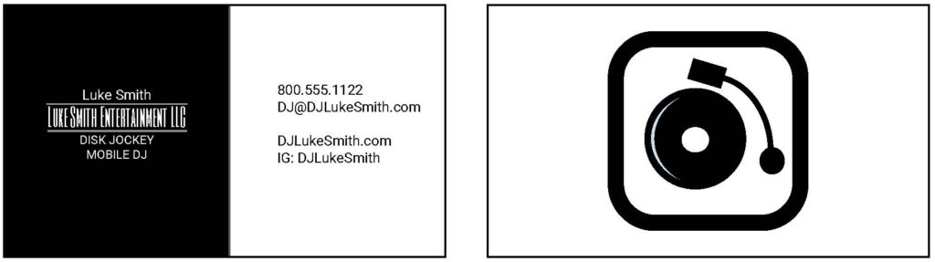 create custom dj business cards in 5 minutes the dj relay. Black Bedroom Furniture Sets. Home Design Ideas