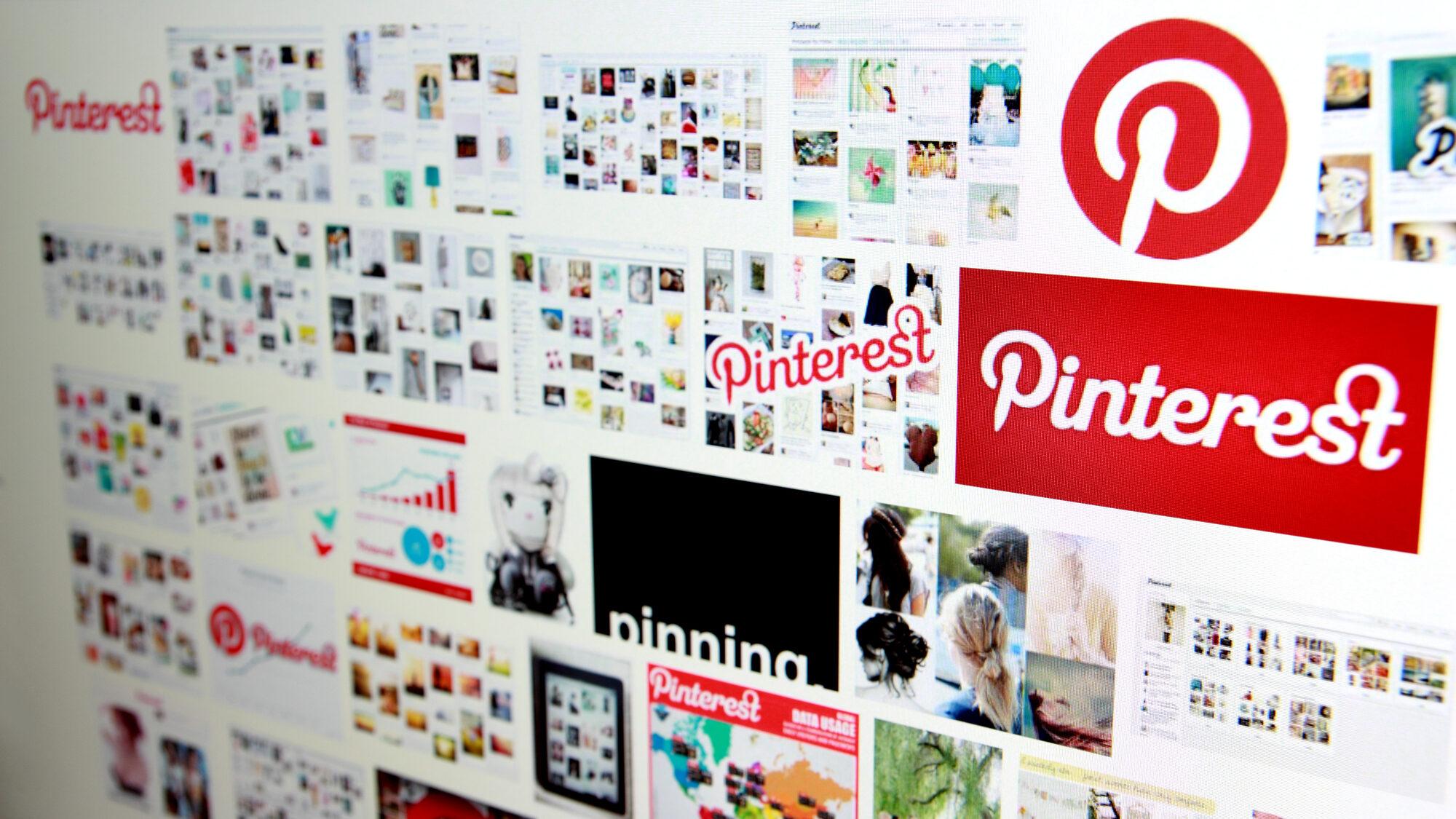 Pinterest in serach engine on a computer screen.
